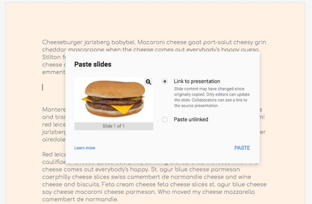 Nhúng Google Slide vào Google Doc