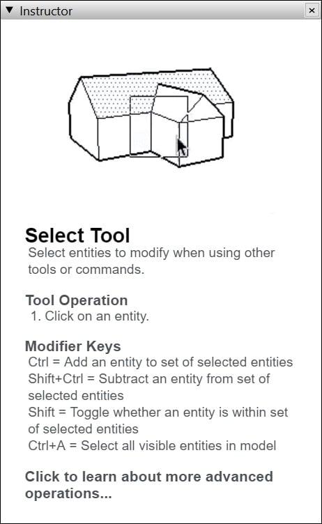 Instructor – Công cụ hướng dẫn bạn sử dụng công cụ SketchUp hiệu quả