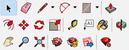 Học sketchUp cơ bản: Tool palettes