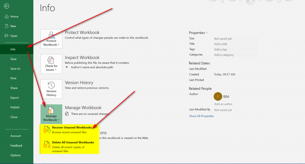 Manage Workbook