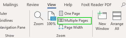 Chọn Multiple Pages