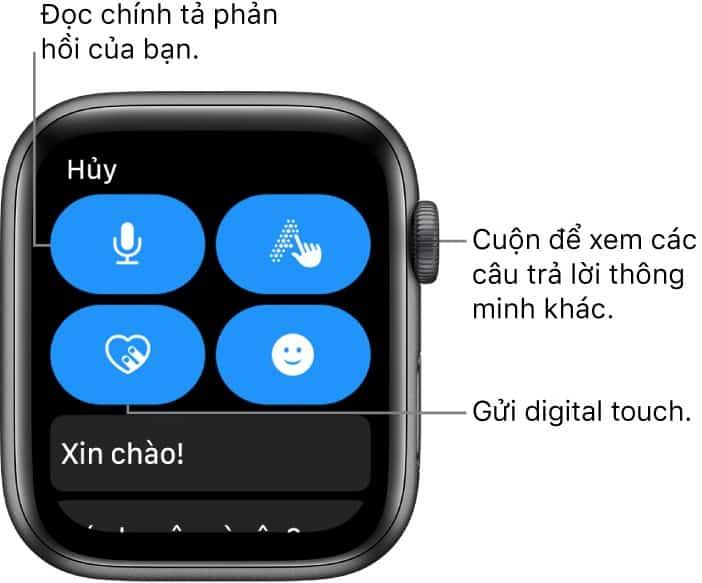 Sử dụng núm xoay Digital Crown trên Apple Watch