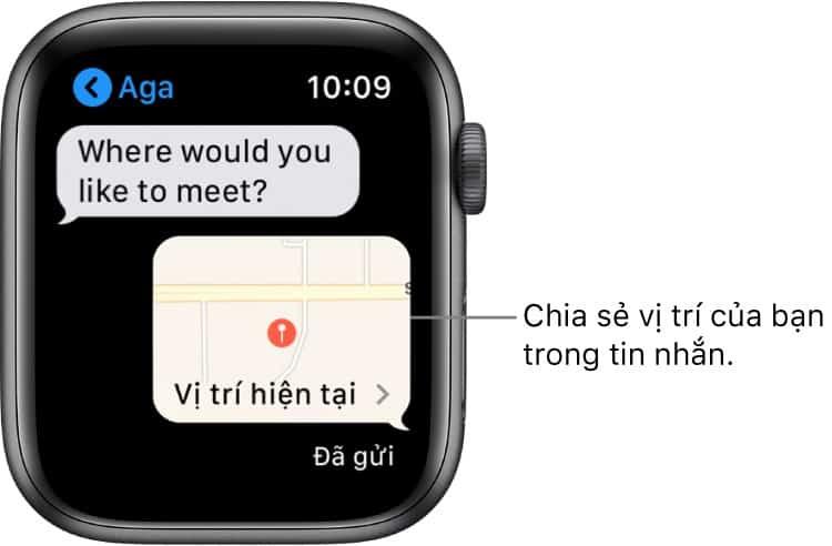 Bạn có thể chia sẻ vị trí của mình bằng Apple Watch