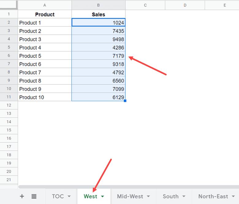 Cách tạo mục lục trong Google Sheets