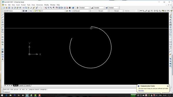 Vẽ cung tròn đi qua 3 điểm thì bạn chỉ cần sử dụng phím tắt