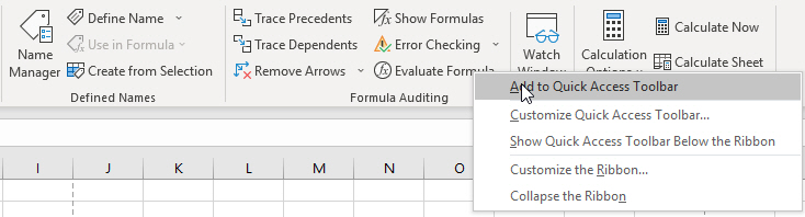 Cách thêm nút lệnh vào Quick Access Toolbar