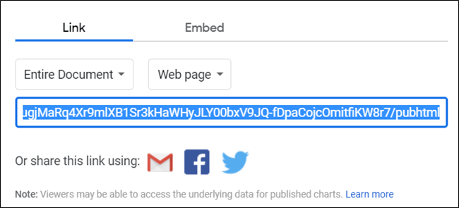 Sao chép liên kết file Sheets