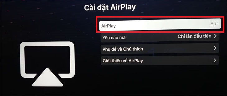 Màn hình hiển thị Airplay