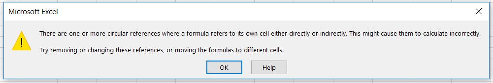 Thông báo lỗi trong Excel