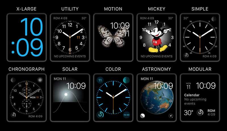 Cách thêm, xóa, hoặc đổi mặt đồng hồ của Apple Watch