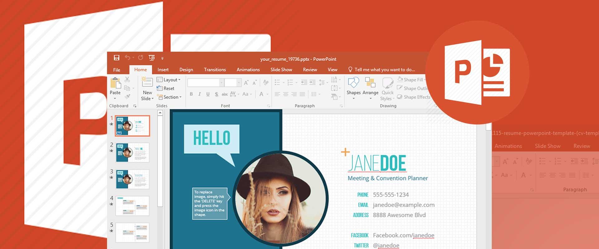 CV cũng có thể thiết kế bằng PowerPoint
