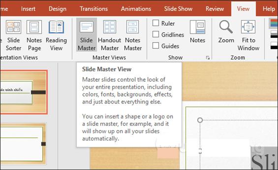 Cách tạo Slide Master