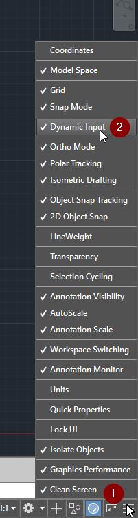 Ấn vô 3 sọc ngang và chọn Dynamic Input