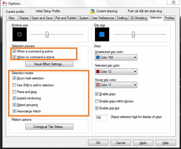 Cách sử dụng lệnh Group trong AutoCad