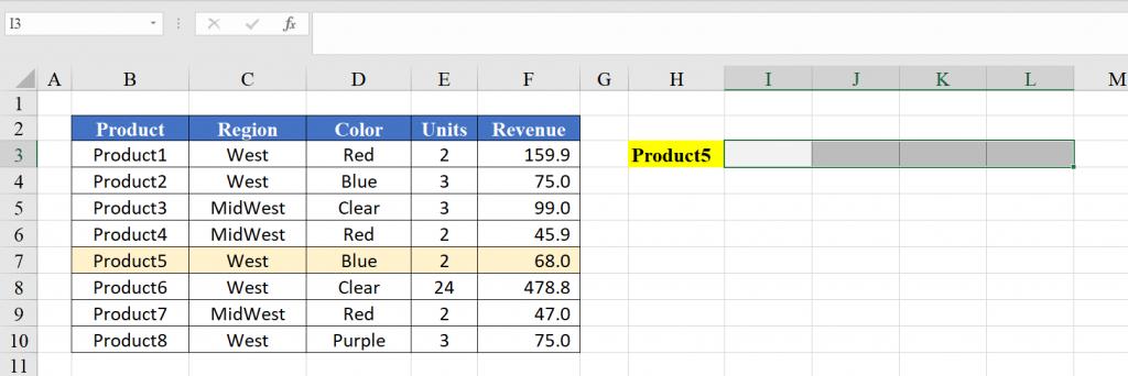 Sử dụng hàm VLOOKUP trả về mảng giá trị