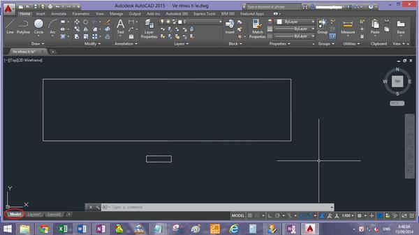 Bạn có thể sử dụng lệnh Rec trong CAD để vẽ hình chữ nhật
