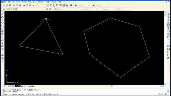 Lệnh Rec trong CAD còn được dùng để thiết kế hình tứ giác cho bản vẽ
