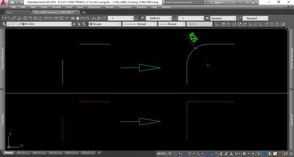 Lệnh bo tròn trong bản vẽ Cad dùng để tạo nên cung tròn giữa 2 đoạn thẳng bất kỳ theo bán kính cho trước