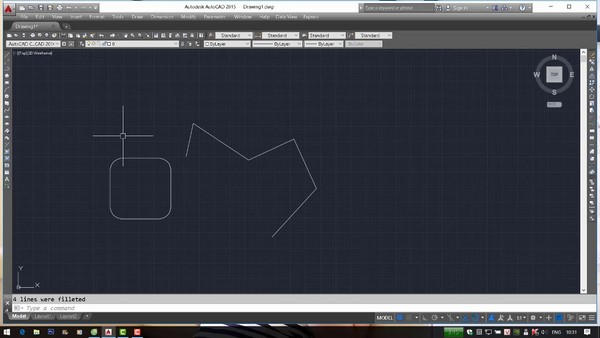 Để bo tròn góc trong bản vẽ Cad thì bạn phải sử dụng lệnh Fillet