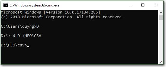 Gộp các file CSV vào trong một file chung