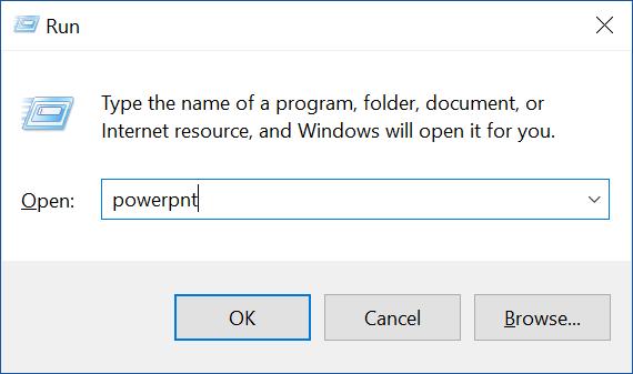 Mở Microsoft PowerPoint