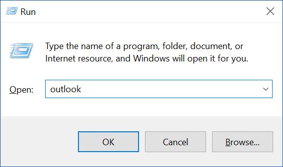 Mở Microsoft Outlook