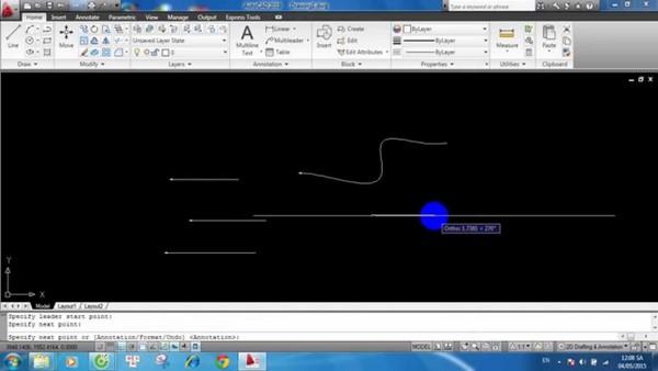 Đường thẳng được vẽ bằng lệnh Polyline có thể sử dụng lệnh Join để nối lại với nhau