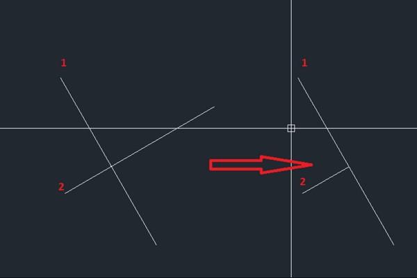 Đường thẳng được vẽ theo phương xiên đóng vai trò rất quan trọng trong bản vẽ Autocad