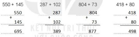 [KNTT] Giải VBT Toán 2 bài 59: Phép cộng (không nhớ) trong phạm vi 1000