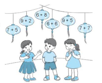 [KNTT] Giải VBT Toán 2 bài 8: Bảng cộng (qua 10)