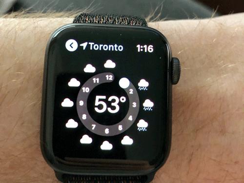 Xem thời tiết nhanh hơn với Apple Watch