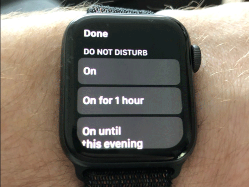Chế độ Do Not Disturb trên Apple Watch