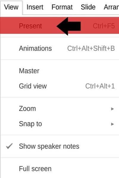 Tạo mục hỏi đáp trong Google Slides