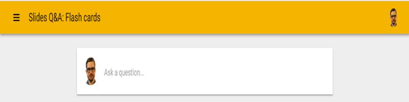 Mẫu nhận câu hỏi trên Google Slides
