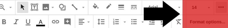 Tùy chọn định dạng ở Google Slides
