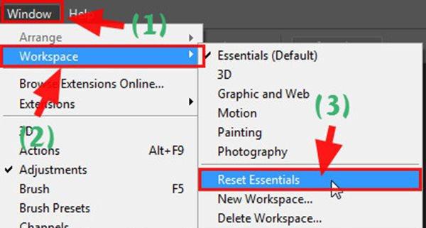 Khôi phục cài đặt gốc cho Photoshop CS, CC