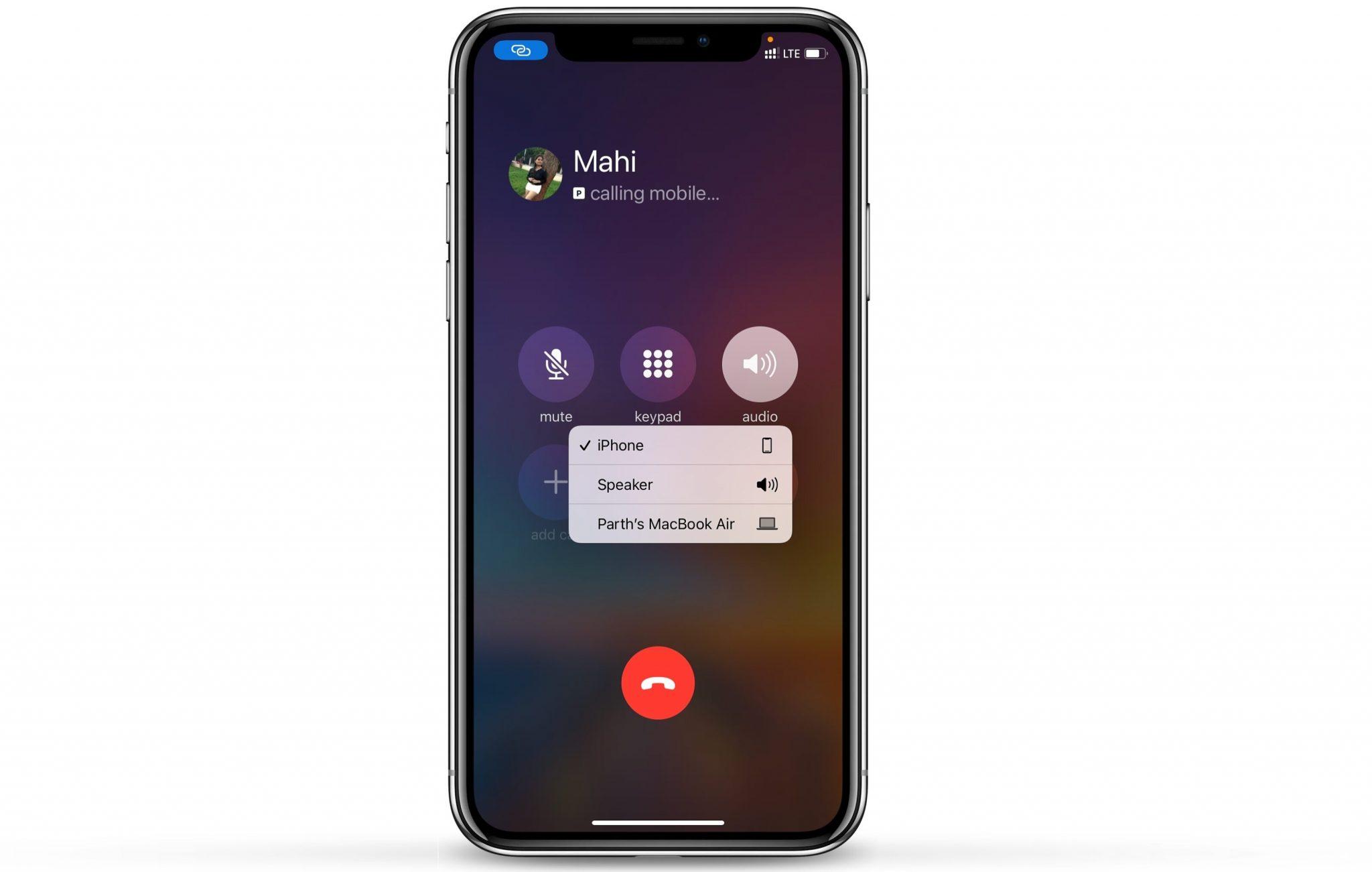 Giao diện người dùng âm thanh mới trong khi gọi