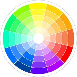 Bánh xe màu trong thiết kế