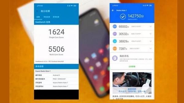 Chiếm điểm hiệu năng Xiaomi Redmi Note 7