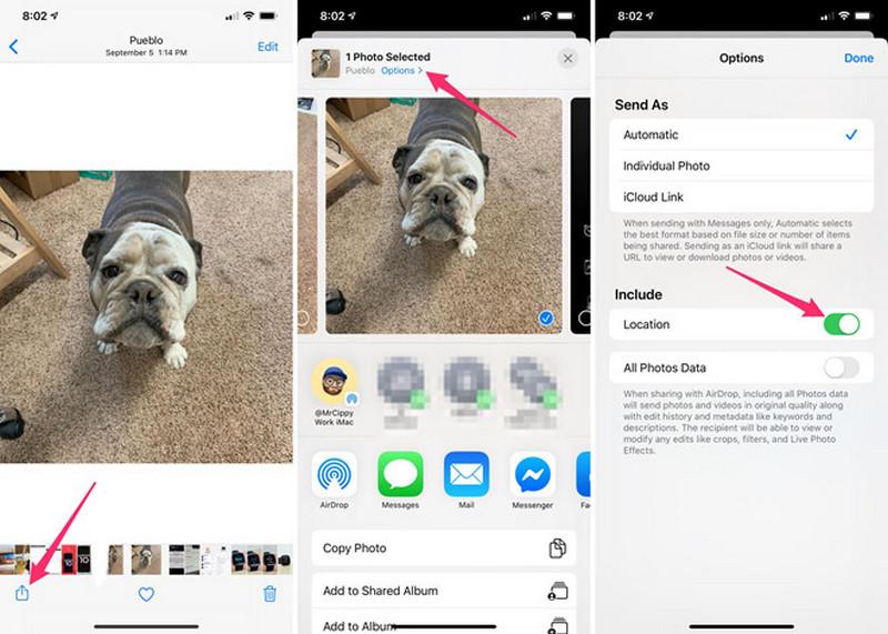 Bạn có thể tắt thông tin vị trí khi chia sẻ ảnh để đảm bảo an toàn
