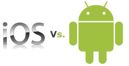 Sự khác nhau giữa iOS và Android