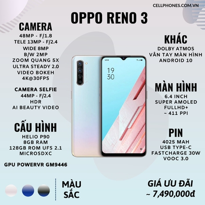 Cấu hình OPPO RENO 3