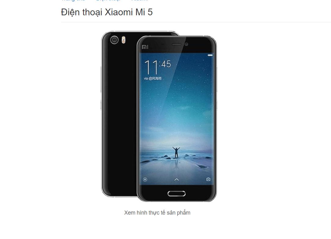 Xiaomi Mi 5 từng gây sốt thị trường vì giá bán hấp dẫn