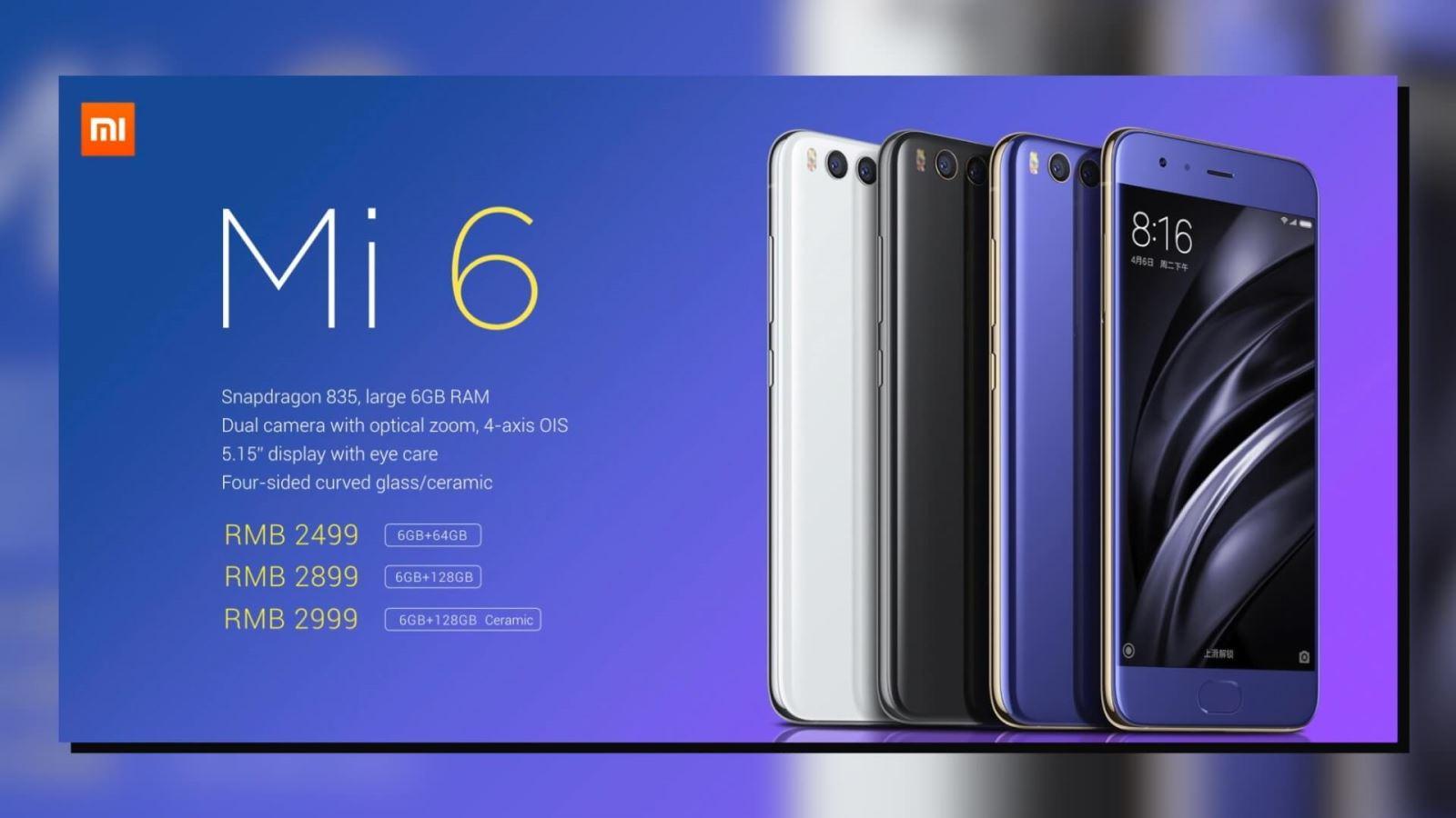 Xiaomi Mi 6 với cụm camera kép