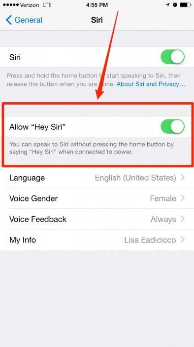Sử dụng Siri ở chế độ rảnh tay