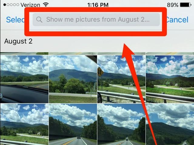 Sử dụng Siri để lọc hình ảnh