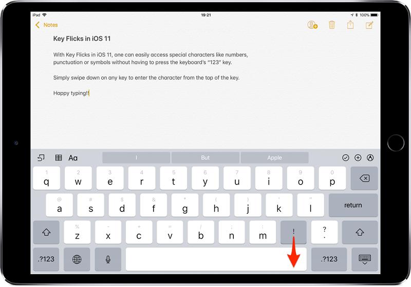 Nhập từ bàn phím nhanh hơn với Key Flicks