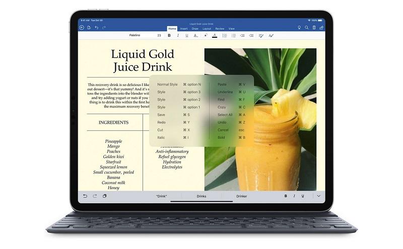 Sử dụng phím tắt để hoàn thành nhanh nhiều tác vụ trong Pages