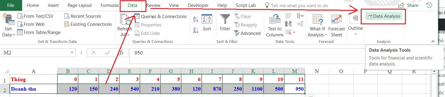 Tạo chỉ tiêu phân tích trong Analysis ToolPak